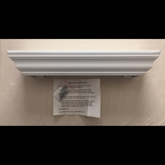"Pottery Barn Other - White shelf with picture ledge 18"", NEW"